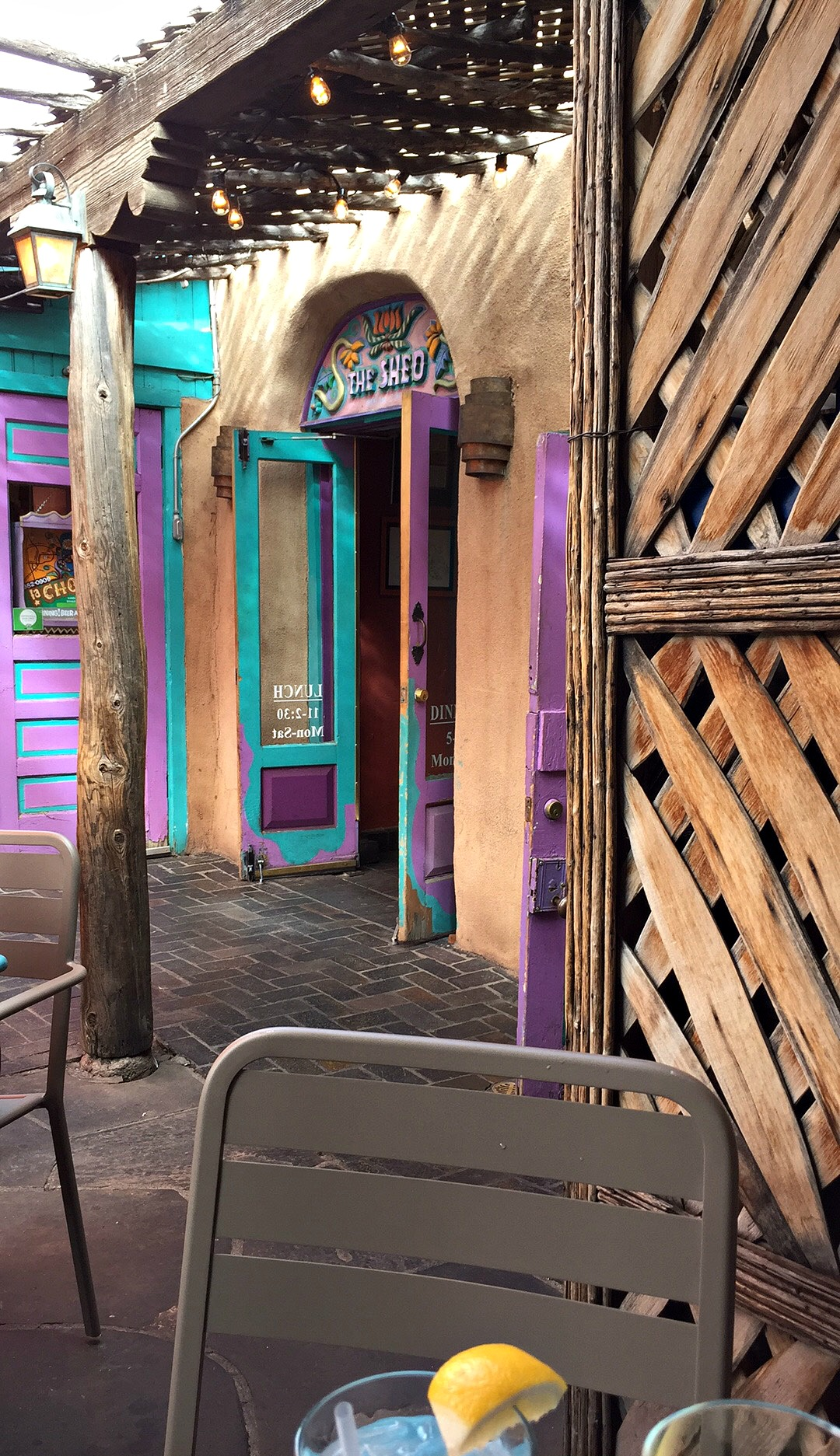 The Shed Restaurant in Santa Fe, A Dog friendly patio restaurant