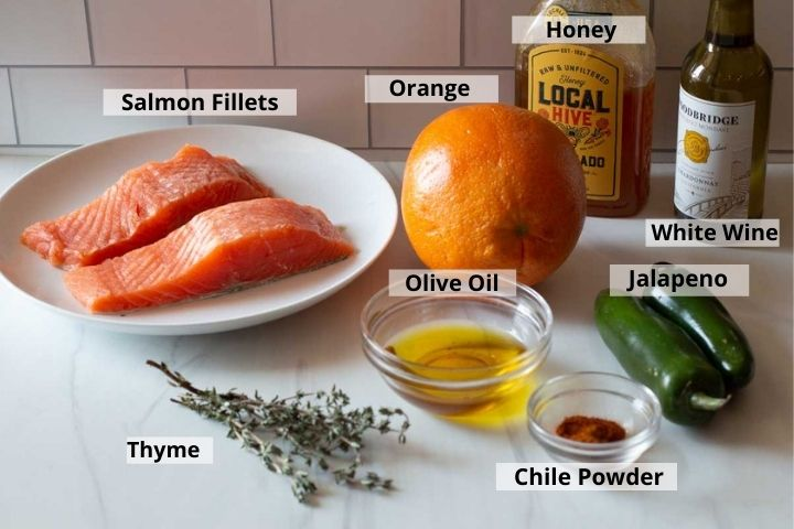 Ingredients to make Southwestern Salmon in Parchment