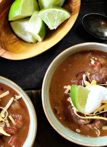 Bourbon Beef and Bean Chili with Hatch Chile and Chuck Roast