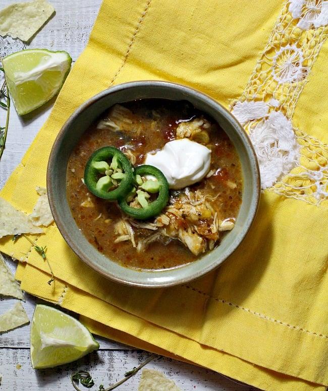Creamy Mexican Chicken Tortilla Soup.