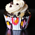 Cream cheese filled black bottom chocolate cupcakes