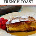 Overnight mango stuffed french toast