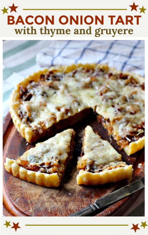 Bacon Onion Tart with Gruyere