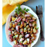 Country fried potatoes with ham