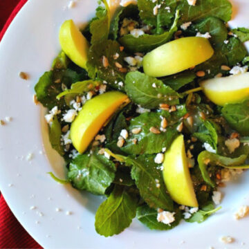 Kale apple salad with cider vinaigrette