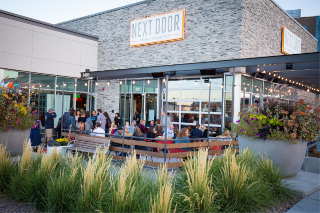 outdoor patio dining next door eatery in Highlands Ranch