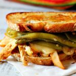 Pueblo Chile Chicken Sandwich on toasted white bread