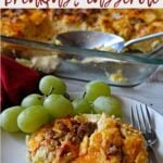 Make ahead breakfast casserole to feed a crowd