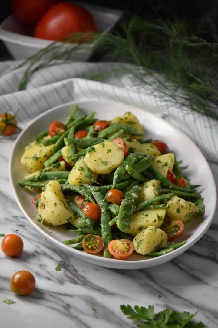 Italian potato and green bean salad