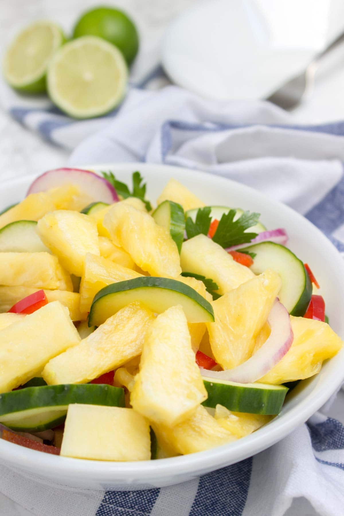 Pineapple and cucumber salad for fruit salad ideas for 4th of July