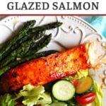 Easy peach jam glazed salmon recipe