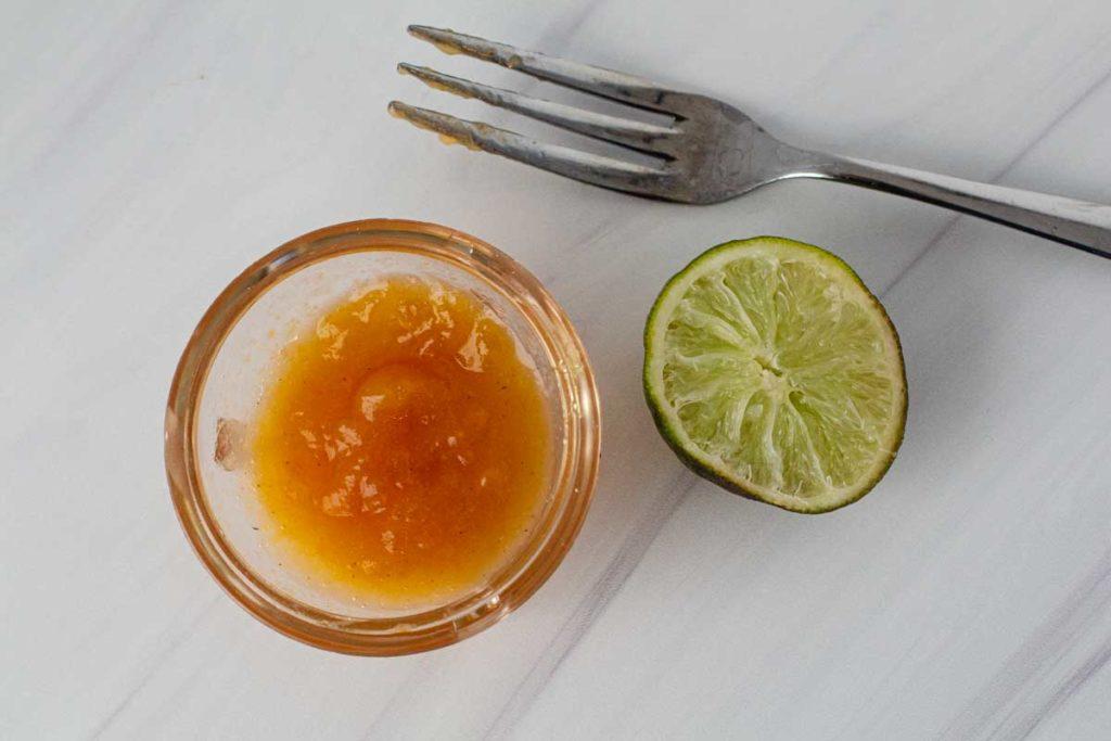 Peach glaze for salmon