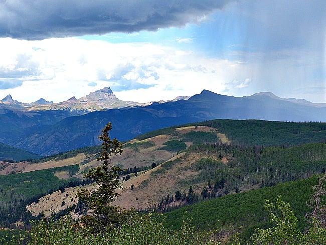Photo of Uncompahgre Peak in the San Juan Mountains Southwest Colorado from Slumgullian Pass