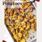 How to smashed potatoes with chimichurri