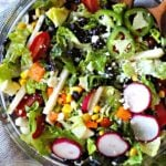 Southwestern chopped salad recipes with corn and black beans