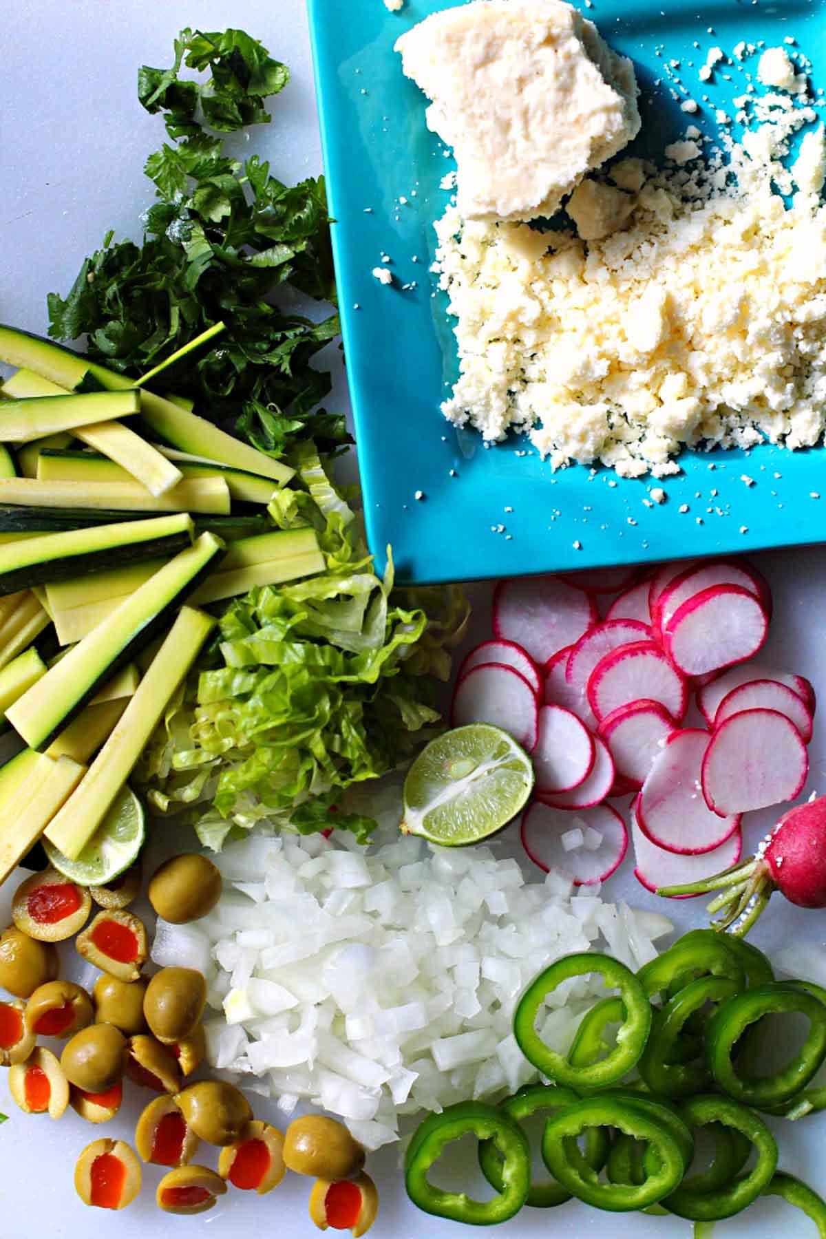 Ingrediens to make street style red chile folded enchiladas