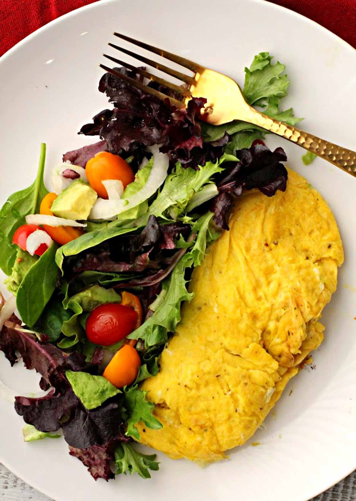 Fines Herbs Omelette with a side salad