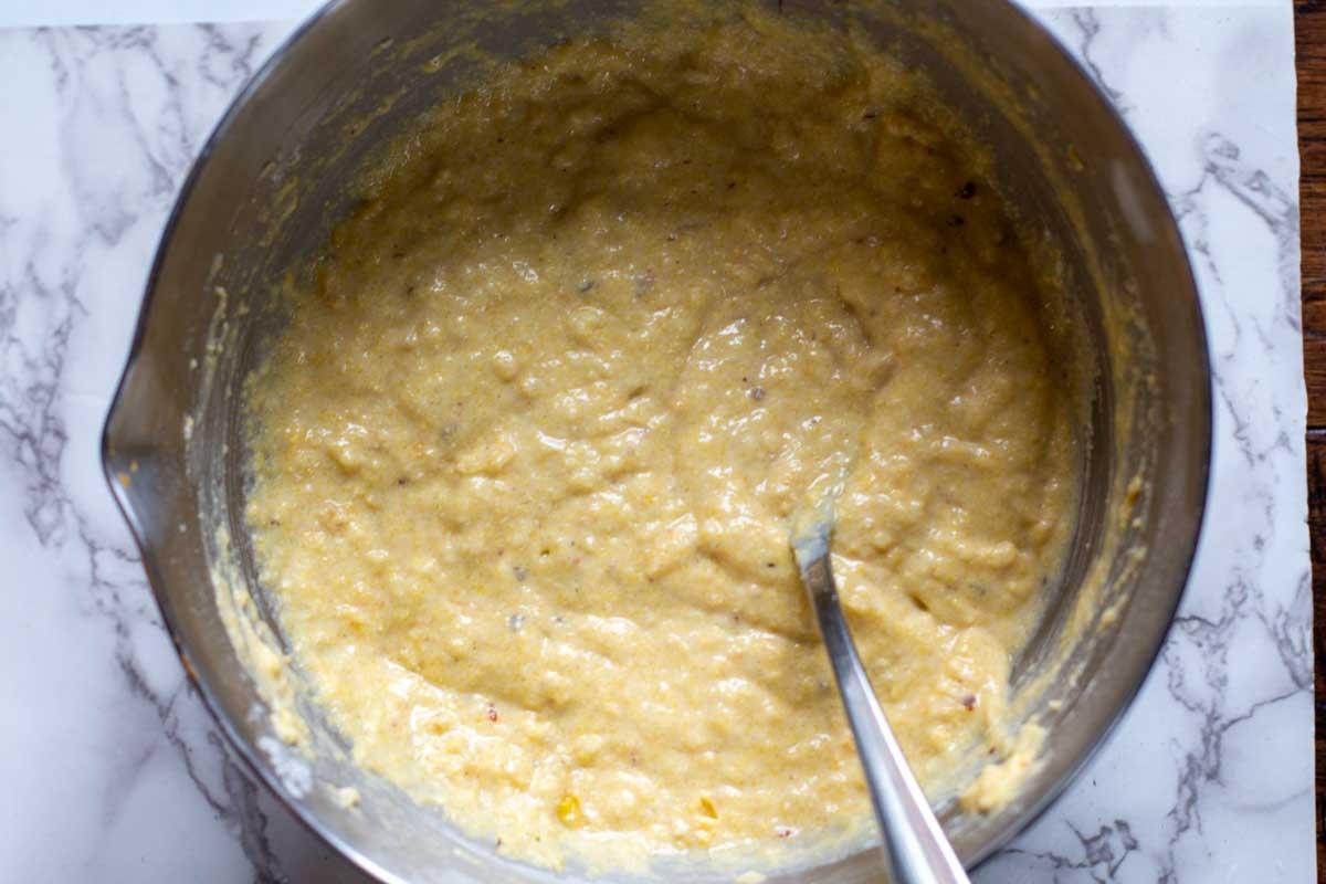 Batter for moist cornbread muffins