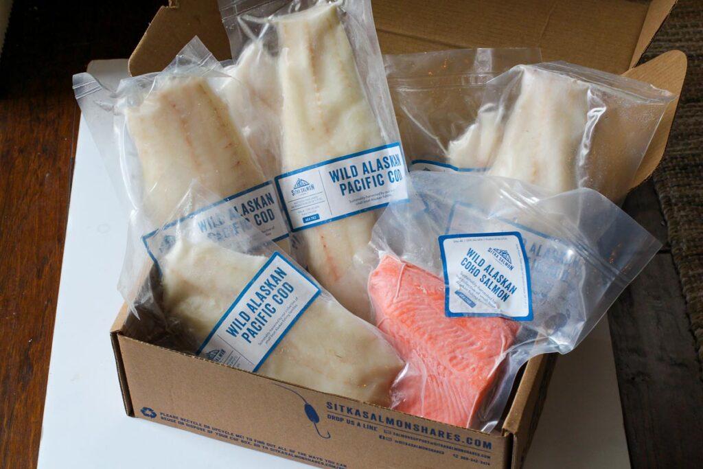 Sample of shipment of fresh caught alaskan seafood
