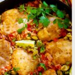 Mexican chicken with rice using chicken thighs