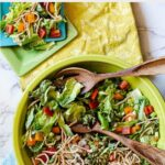 Lettuce salad with chow mein noodles