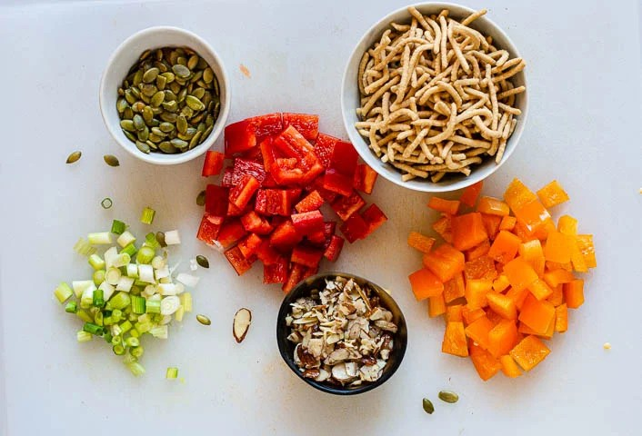 Ingredients for Asian lettuce salad