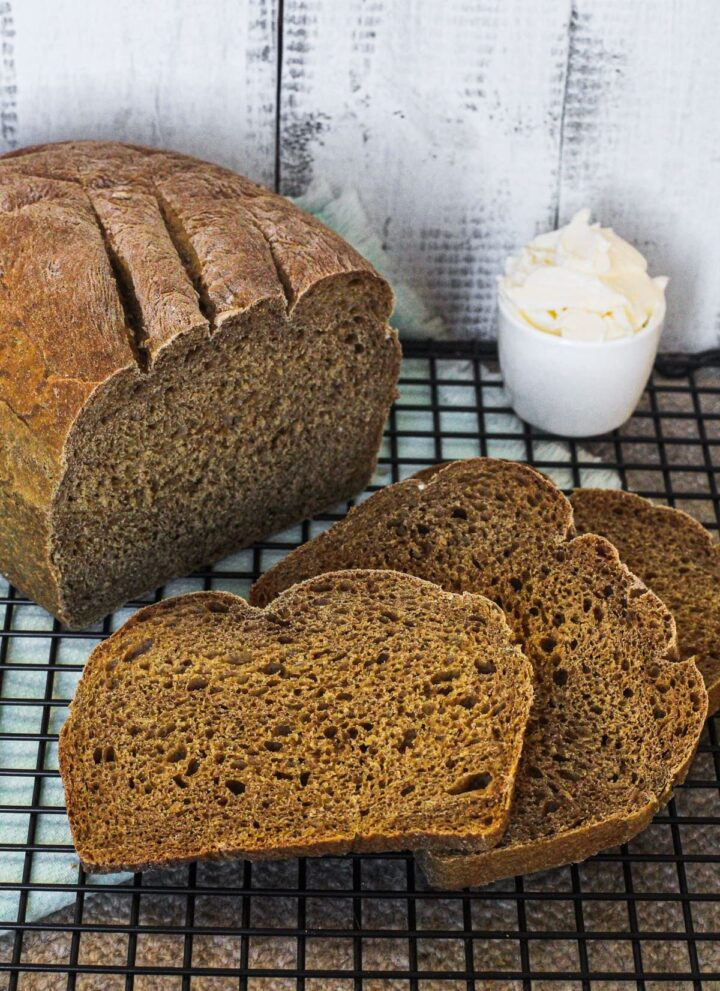 easy molasses bread with butter