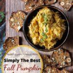 Fall pumpkin goat cheese appetizer