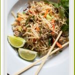 Spicy Peanut Sauced Noodles with Pork