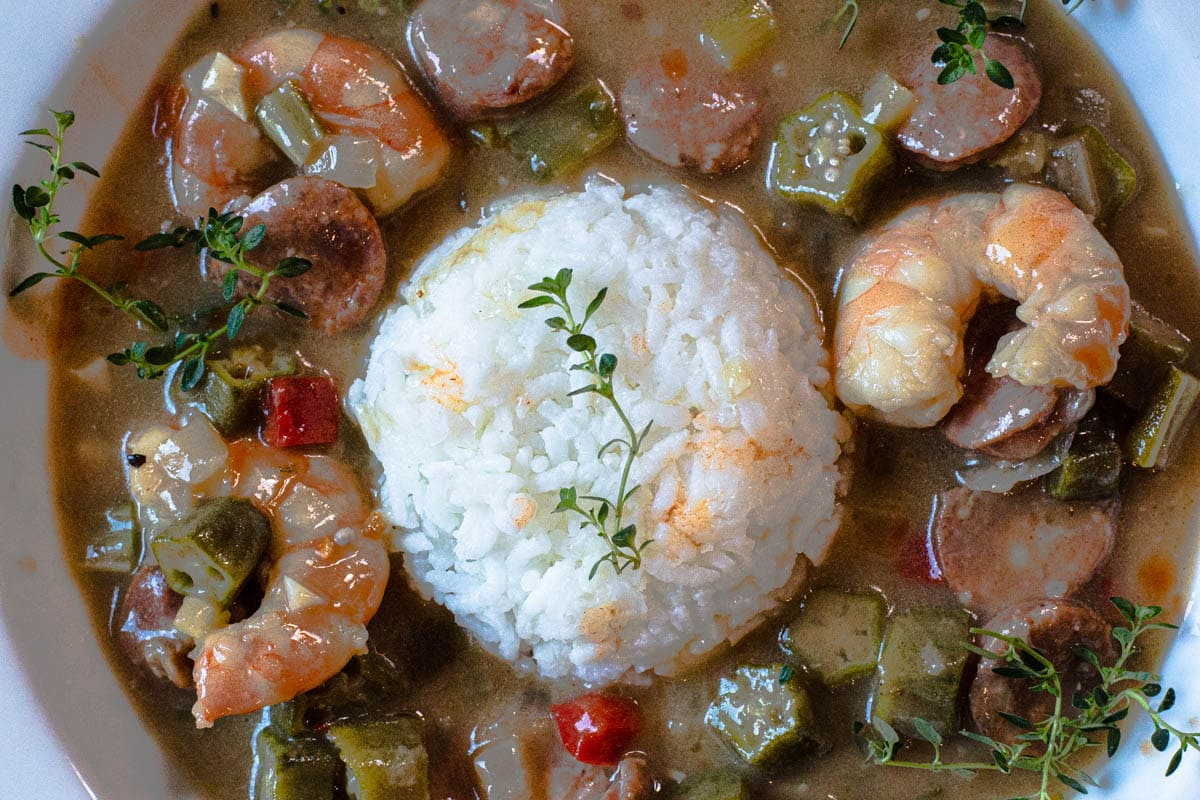 easy gumbo recipe with shrimp and andouille sausage
