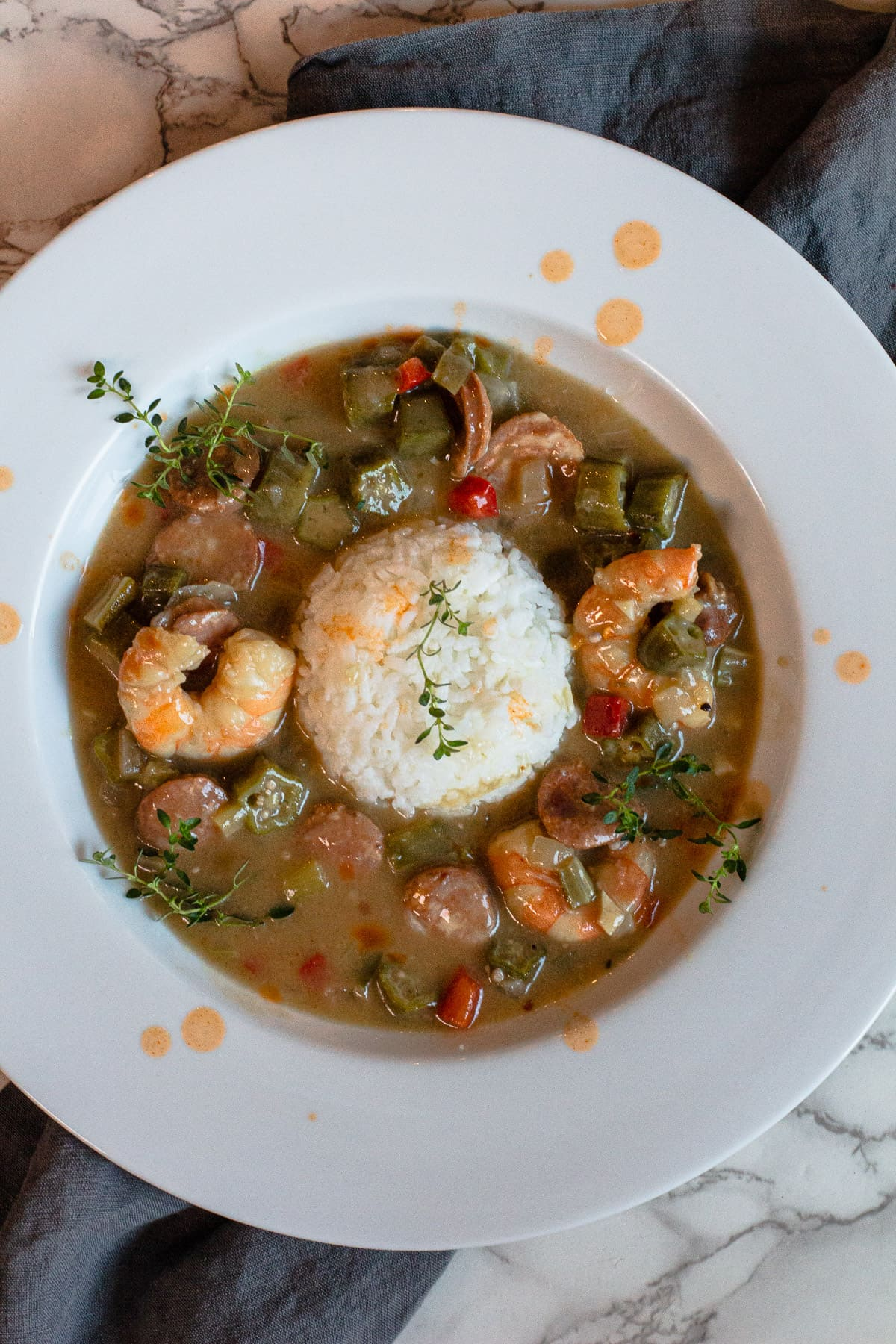 Shrimp and Andouille Sausage Gumbo with Rice
