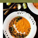 Spicy Sweet Potato Soup with Apples and Chipotle