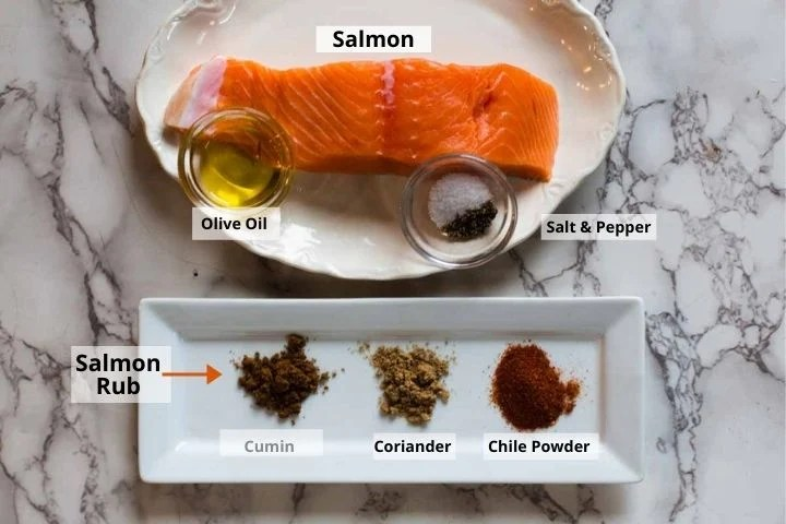 Ingredients for Mexican Salmon