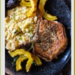 Slow cooker thick cut pork chops with apples and figs