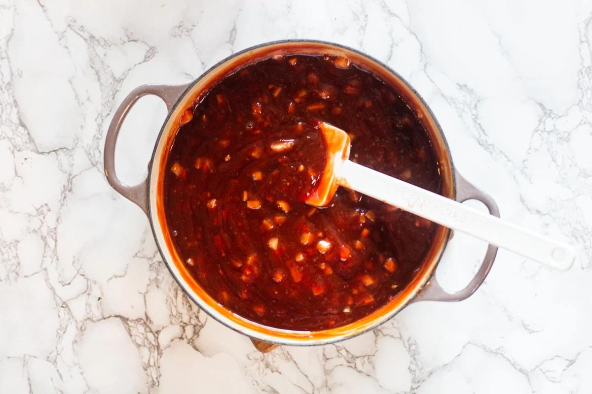 sweet and smoky homemade bbq sauce.