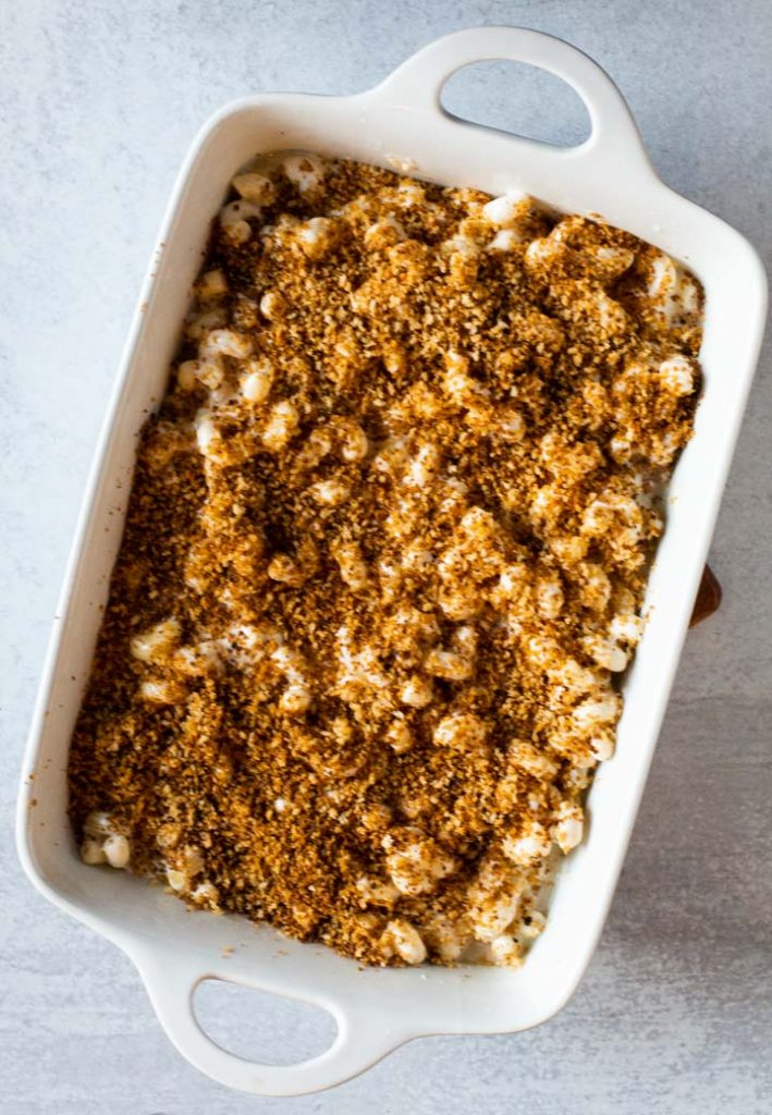 Chipotle and Panko topping for flemings mac and cheese