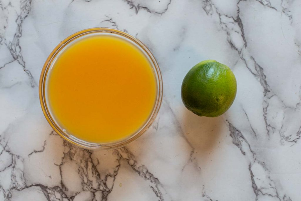 Orange juice and lime for pork marinade cochinita pibil enchiladad
