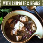 30 minute chicken and bean soup