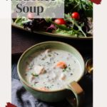 Creamy slow cooker wild rice soup with chicken