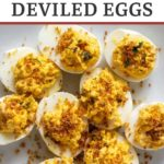 Spicy deviled eggs with chile powder