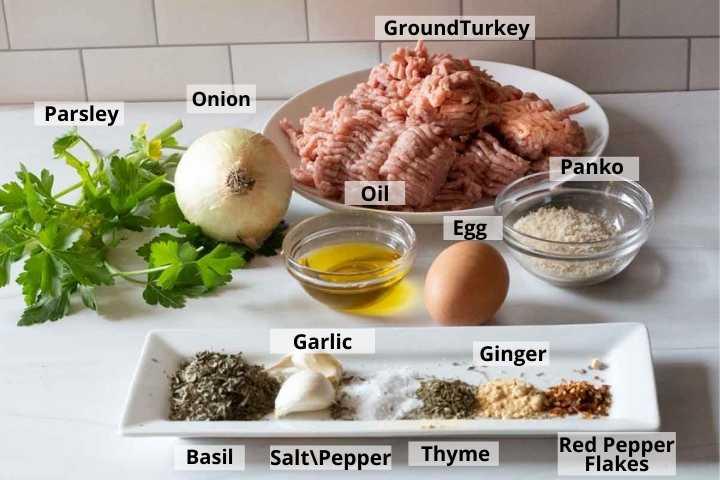 Ingredients to make breakfast sausage