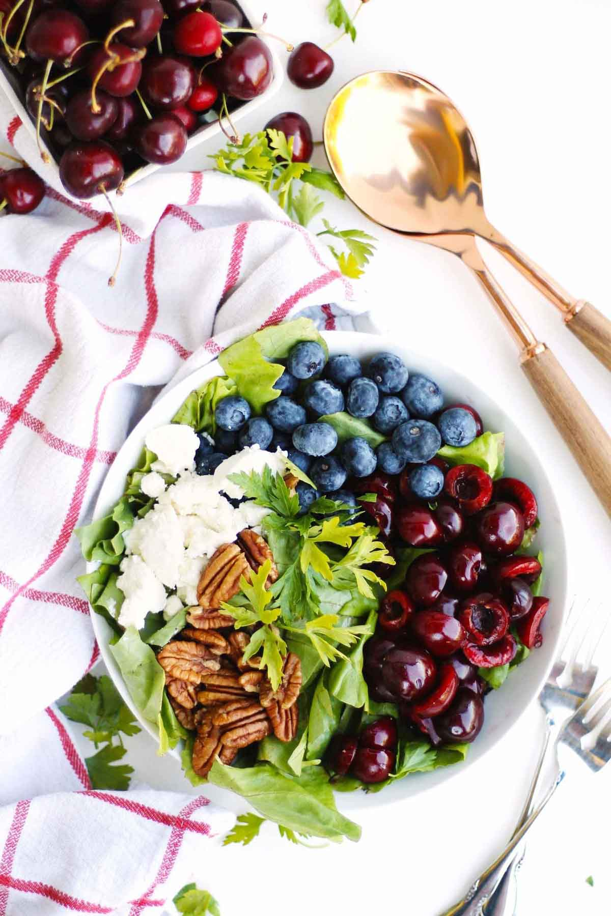 4th of July Side dish recipe with blueberries and cherries