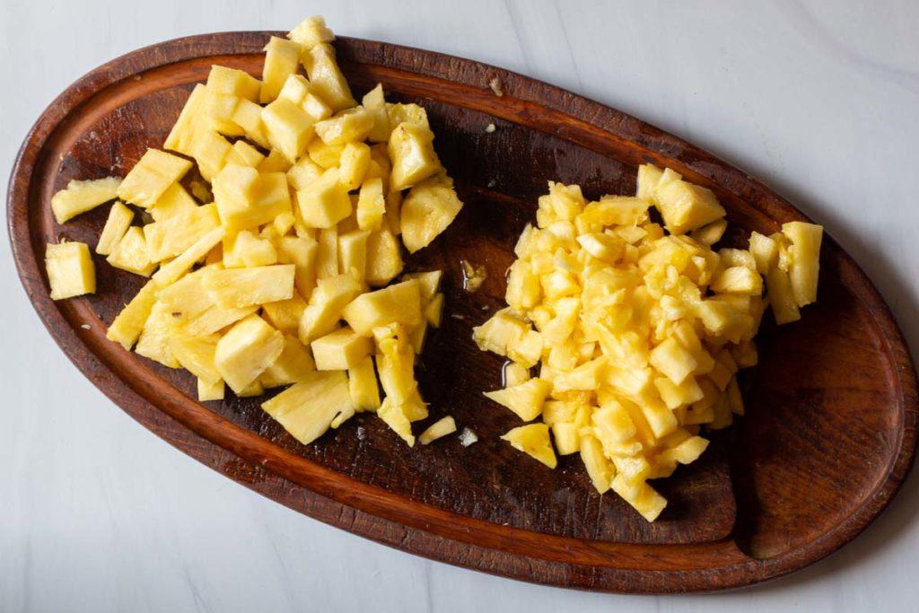 chopped fresh pineapple for pork adobo