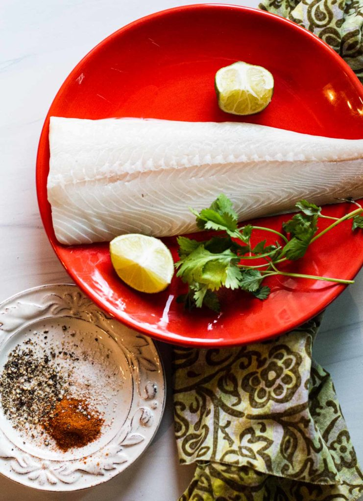Ingredients to make easy fish tacos