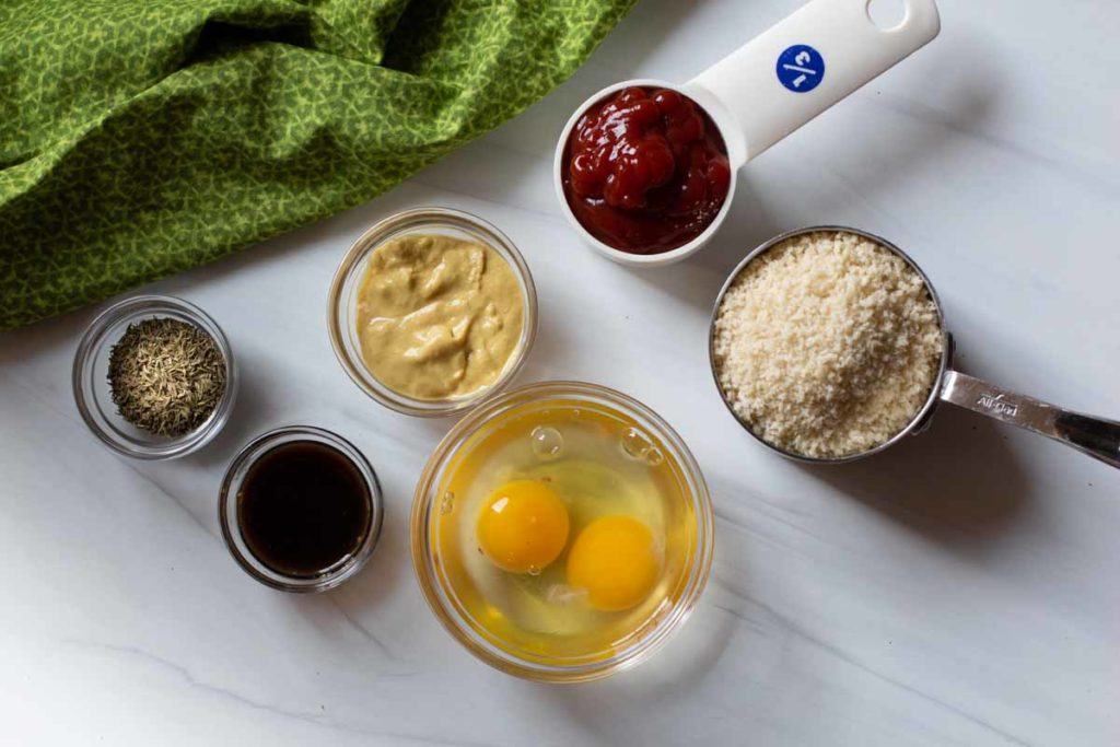 Ingredients to make old fashioned meatloaf