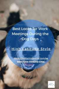 Read more about the article Best Looks for Work Meetings During the Dog Days