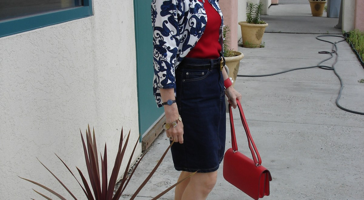 #fashionover40 red, white and blue patriotic look @ High Latitude Style