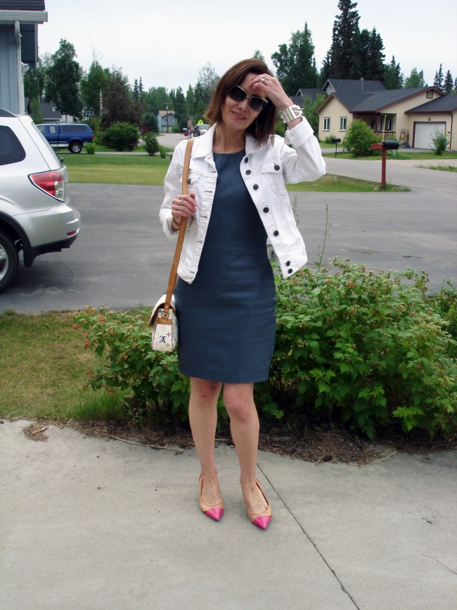 #over40 Leather work outfit | High Latitude Style | http://www.highlatitudestyle.com