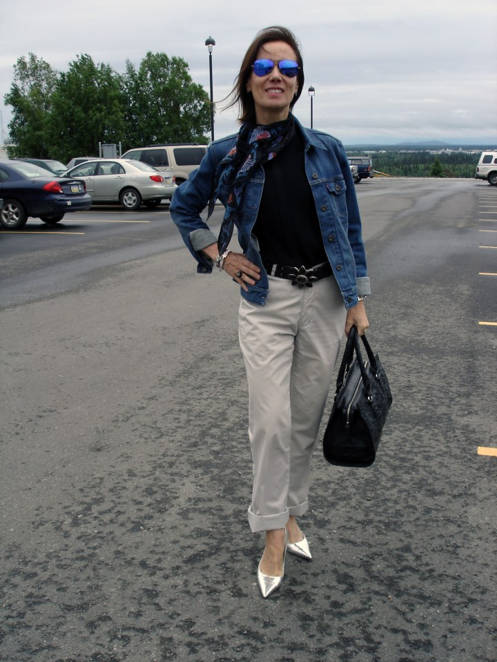 #fashionover50 Ageless Style in a denim jacket for Casual Friday