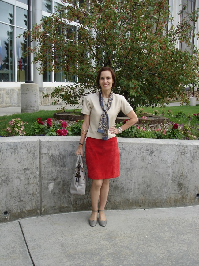#fashionover40 leather with suede outfit | High Latitude Style | http://www.highlatitudestyle.com